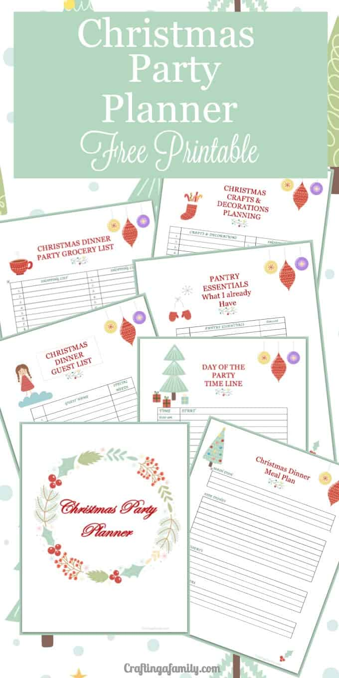 Christmas Party Planning Printable ~ Craftingafamily.com