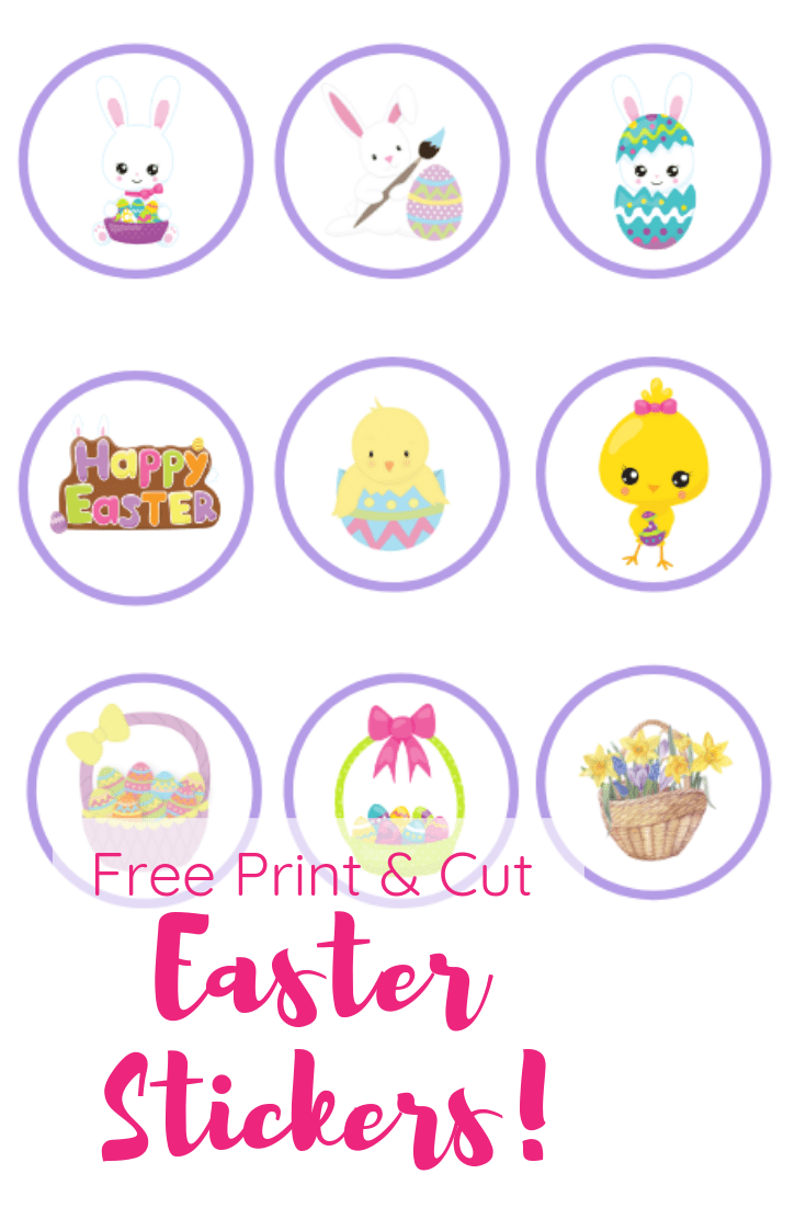 Free Print Cut Easter Stickers Crafting A Family